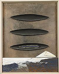 SIEVERDING HANS (1937 - ) Compositie met kano's.