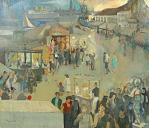 BERVOETS LEO (1892 - 1978) De kermis te Sint