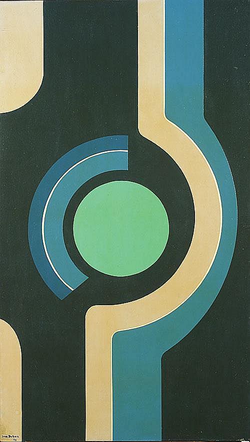 DUBOIS JEAN (1923 - 1990) Compositie met cirkel.