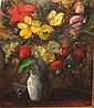 SCHELCK MAURICE (1906 - 1978) Bloemen in een vaas., Maurice Schelck, Click for value