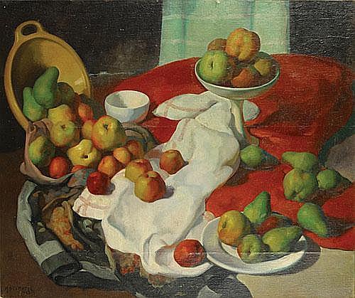 DELMOTTE MARCEL (1901 - 1984) Stilleven met fruit.