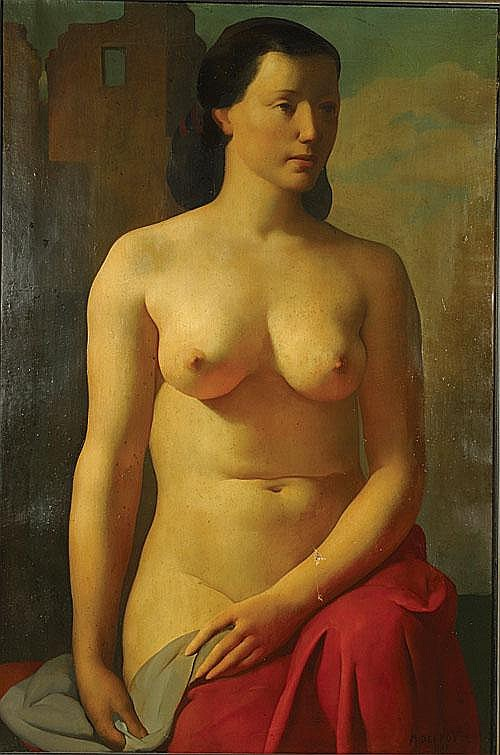DELMOTTE MARCEL (1901 - 1984) Zittende naakt. Nu