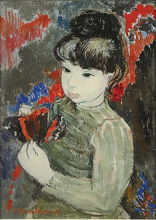 SMOLDERS PAUL (1921 - 1997) Jong meisje met