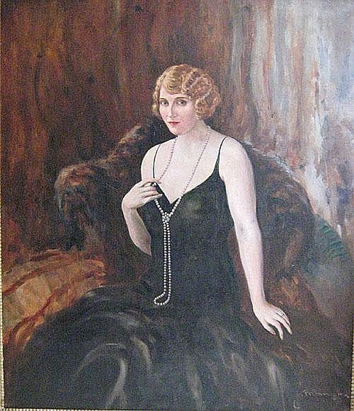 MANGIN CHARLES (1892 - 1977) Dame in avondjurk.