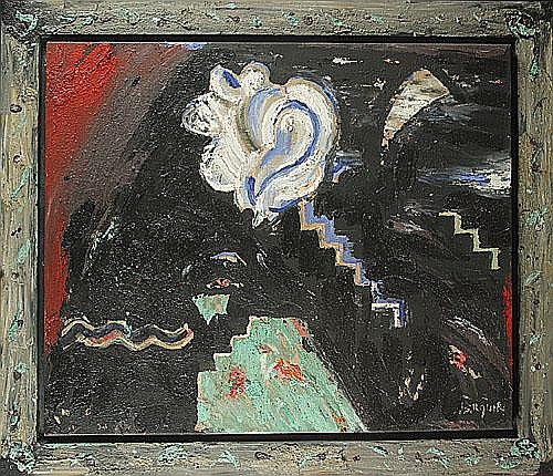 BILQUIN JEAN (1938 - ) 'Polaroid'. Olie op doek.