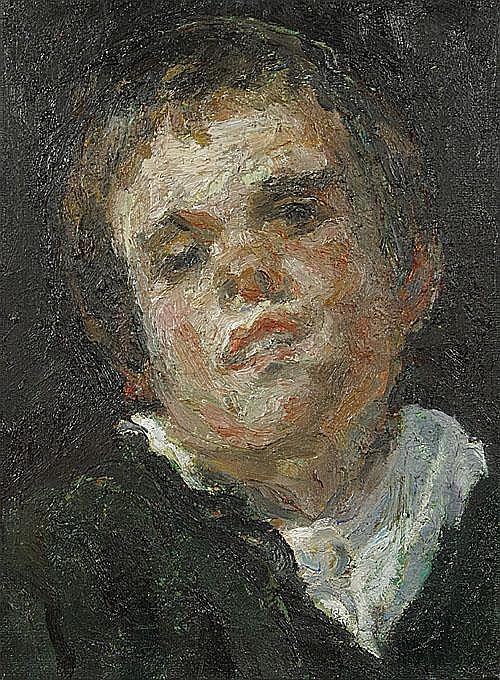 DILLEMANS SAM (1965 - ) Portret van een jongen.