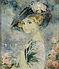 CHAROY BERNARD (1929 - ) 'Le chapeau'. Olie op, Bernard Charoy, Click for value
