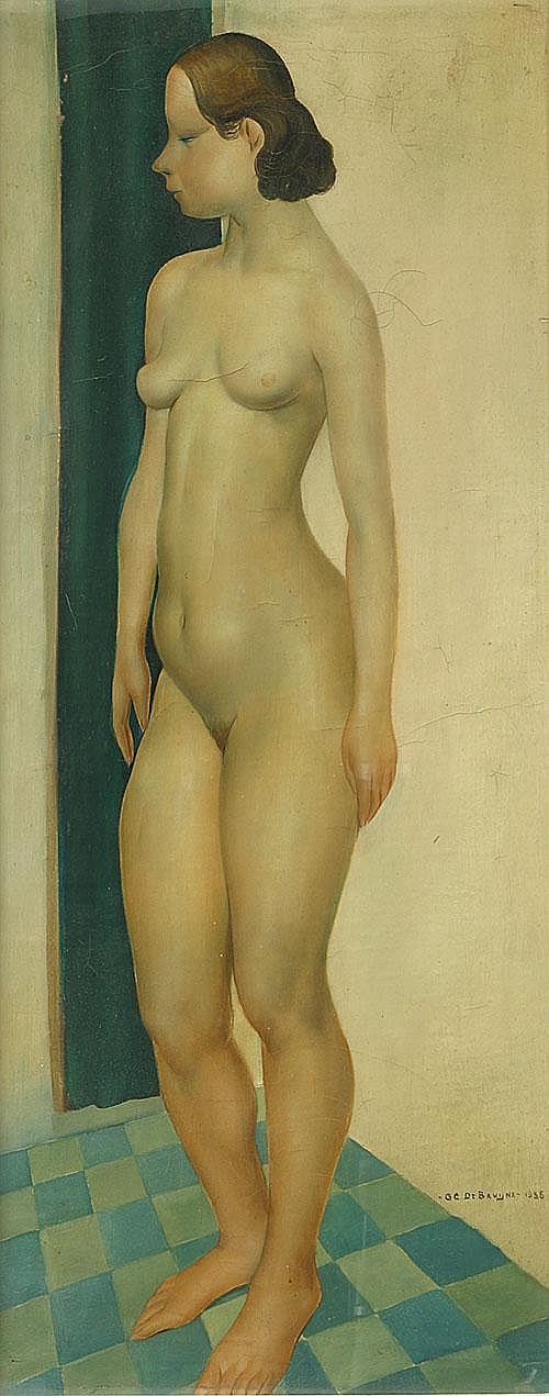 DE BRUYNE GUSTAAF (1914 - 1981) Naakt. Nu Olie op