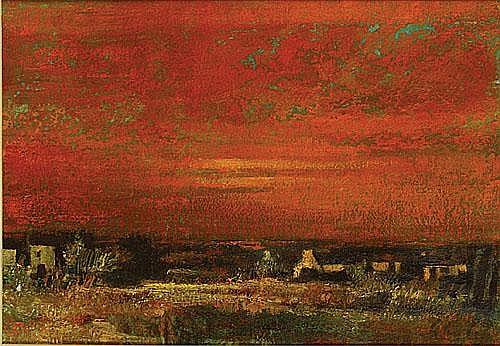 SCHELCK MAURICE (1906 - 1978) 'Soir à Lathem