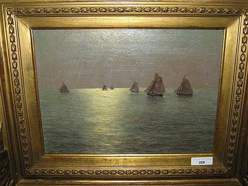 STEPPE ROMAIN (1859 - 1927) 'Voilier en Mer du
