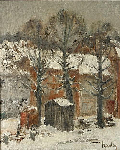 BOULEZ JULES (1889 - 1960) Winter in de stad.
