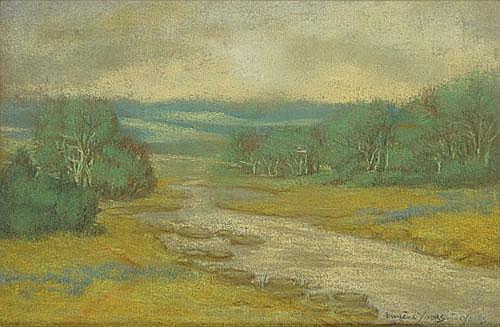 JOORS EUGEEN (1850 - 1910) Landschap met ven.