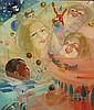 """STEVEN FERNAND (1895 - 1955) """"Rêve d'enfant"""". Olie"""
