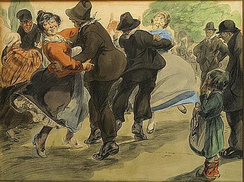 OST ALFRED (1884 - 1945) Het dansen tijdens het