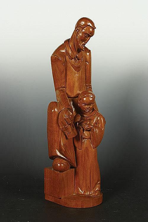 POELS ALBERT (1903 - 1984) Timmerman met zijn