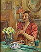RAMBO JULES Schilderes. Peintre Olie op paneel., Jules Rambo, Click for value