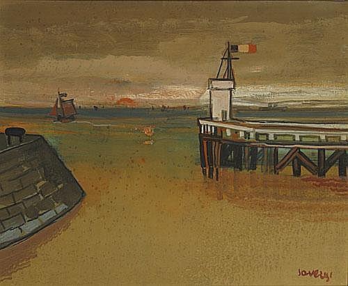 SAVERIJS ALBERT (1886 - 1964) Gezicht te Oostende.