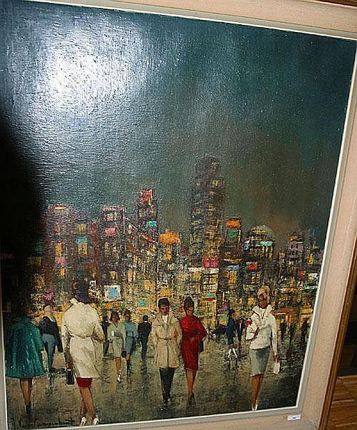 VAN CAMPENHOUT JAN (1907 - 1972) Stadwandeling bij