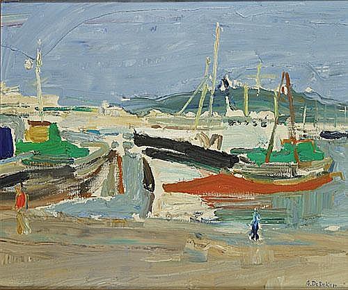 DE DEKEN ALBERT (1915 - 2003) Zeegezicht. Marine