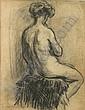 VAN MIEGHEM EUGENE (1875 - 1930) Zittend, Eugeen van Mieghem, Click for value