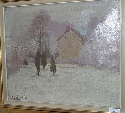 LONCIN LOUIS (1875 - 1946) Winterlandschap met