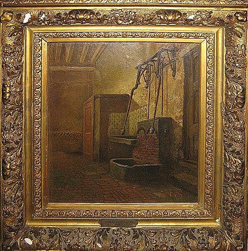 STOBBAERTS JAN 1838 1914 Keuken Cuisine Olie op