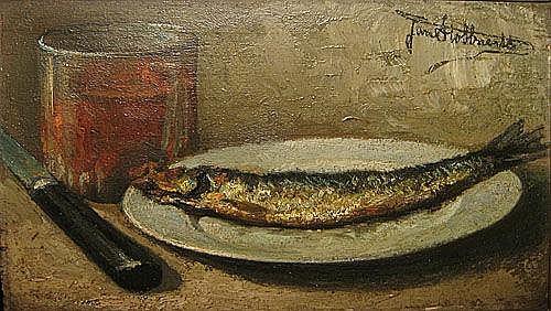 STOBBAERTS JAN 1838 1914 Stilleven met vis Nature