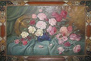 STUYTS LUCIEN 1879 1962 Rozentuil Bouquet de roses