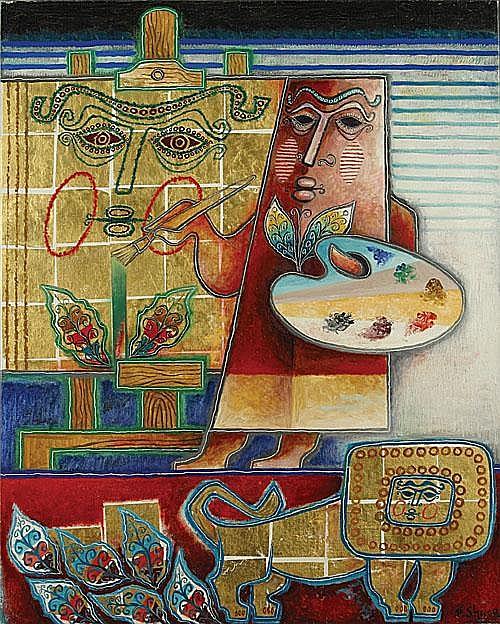 SHAAR PINCHAS (1923 - ) De schilder. Le peintre