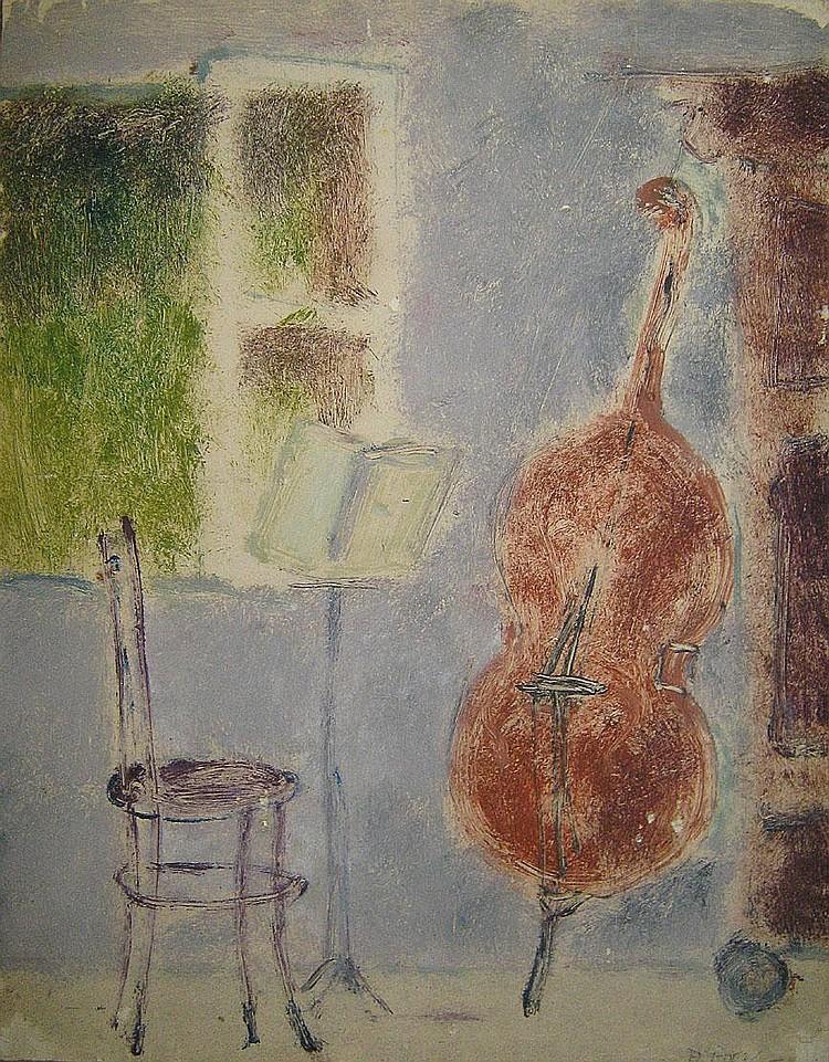 GOEZU ANDRE 1939 Stilleven met stoel en contrabas