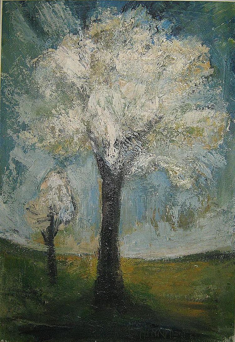 MINNAERT FRANS1929 Bloeiende appelbomen Pommiers