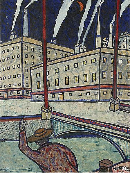 VEKEMANS BRUNO1952 Venetië Gouache / papier. Get.