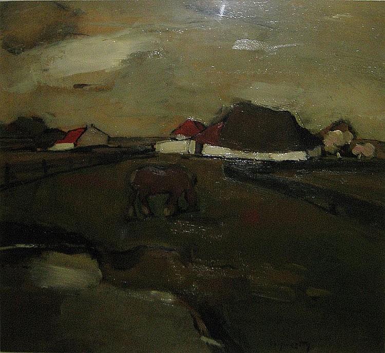 VERPOORTEN OSCAR1895 - 1948 Paard in de wei Cheval