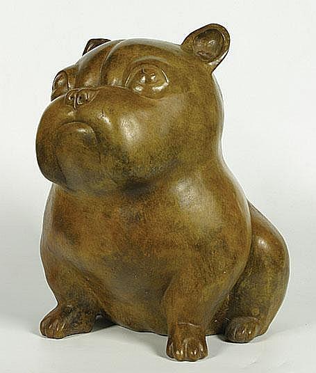 Kinart Odile1945 Chien Brons. Bronze Mono Ex. 2/20