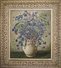 CREYTENS JULIEN 1897 - 1972 Witte vaas met bloemen