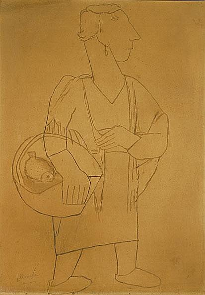 PERMEKE CONSTANT1886 - 1952 Vissersvrouw Femme de