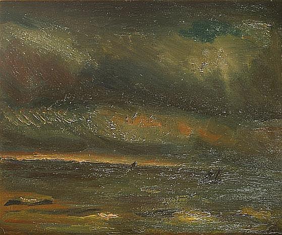 PERMEKE CONSTANT1886 - 1952 Zeegezicht Marine Olie