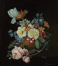 KRAUSE LINA (1857 - 1916) Bloemenstilleven. Nature