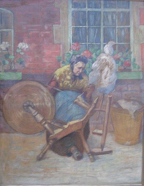 VAN DE VEEGAETE JULIEN (1866-1960) Vrouw aan het