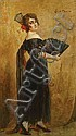 BAES EMILE (1879-1954) 'L'espagnole'. Olie op, Emile Baes, Click for value