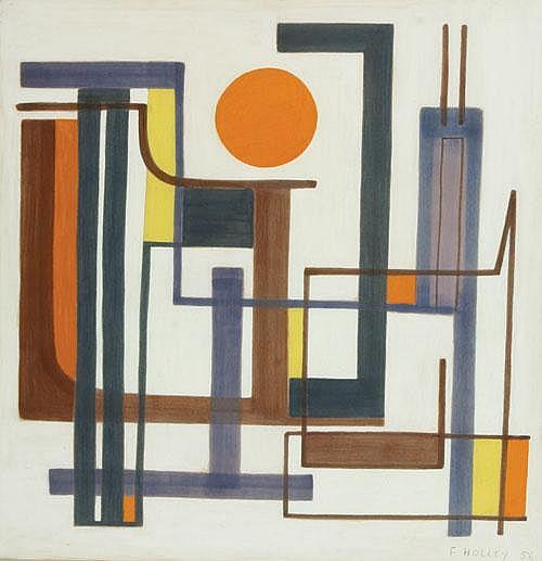 HOLLEY FRANCINE (1919-) 'Soleil'. Gouache /