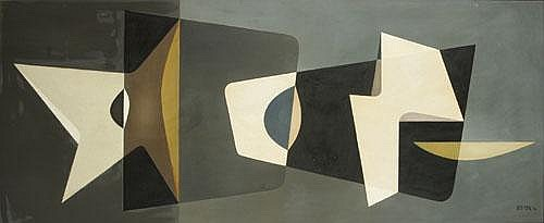 RETS JEAN (1910-1998) 'Laoda'. Olie op paneel.