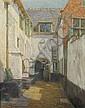 VIERIN EMMANUEL (1869-1954) Begijnhof te Brugge., Emmanuel Viérin, Click for value