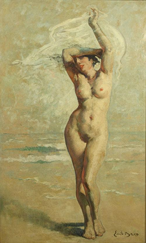 BAES EMILE (1879-1954) 'Baigneuse au bord de la