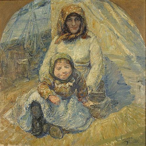 HAGEMAN VICTOR (1868-1940) Emigranten. Les émigrés