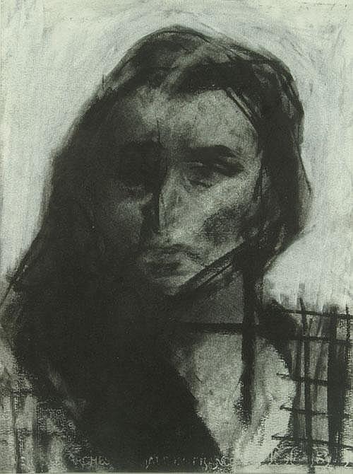 DILLEMANS SAM (1965-) Vrouwenportret. Portrait de