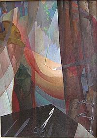 STEVEN FERNAND (1895-1955) 'Chirurgie'. Olie op