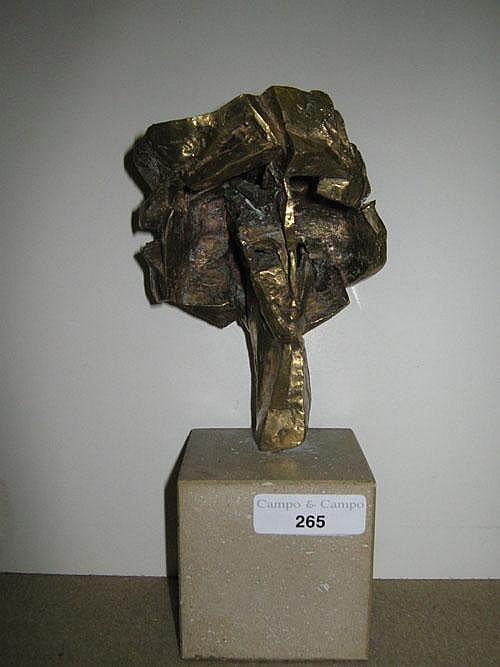 STEIN ANNA (1936-) Flora. Brons. Bronze. .Get.