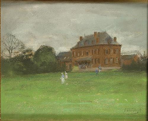 DEN DUYTS GUSTAVE (1850-1897) Gezelschap in de
