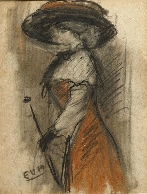 VAN MIEGHEM EUGEEN (1875-1930) De vrouw van de